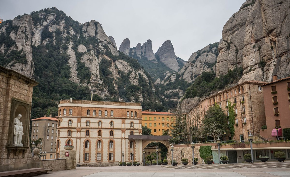 Montserrat is only one hour away from Barcelona and is the perfect hiking spot